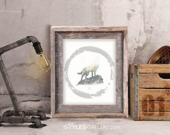 RUSTIC WOLF printable wall art
