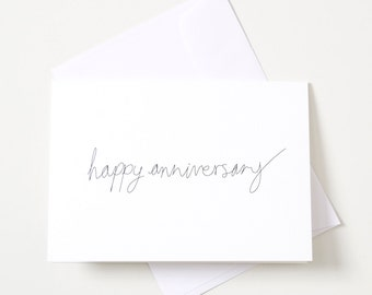 Greeting Card - Script / Happy Anniversary
