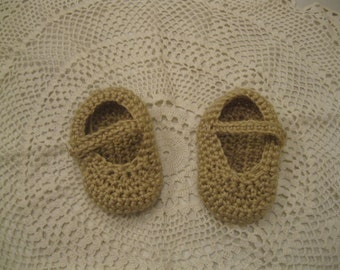 Mary Jane Crocheted slippers