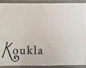 "Placemat- ""Koukla"", Greek placemat"