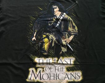 Vintage 90s The Last Of The Mohicans Shirt, CCI, Shirt (Size XL) Free Shipping Made in France