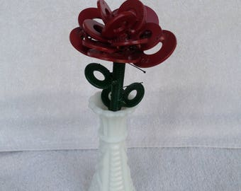 welded metal rose
