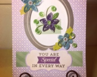 Handmade quilled greeting card!