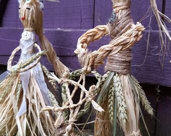 Raffia & Wheat Rustic Pagan God and Goddess
