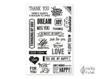 21 clear stamps greetings (AP-C12)