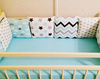 Baby bedding, baby bedding boy, bumper, set bumper,Baby bedding set