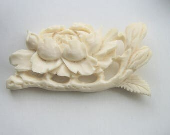 Vintage Chinese Piece of Carved Bone for Jewelry Making