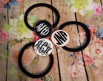 Monogrammed Ponytail Holder