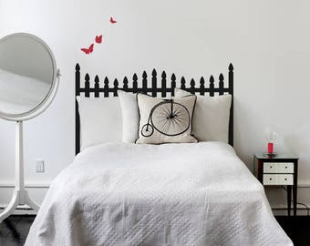 Picket Fence Headboard Wall Decal