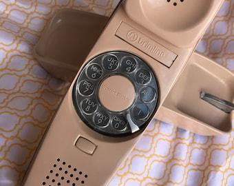 Vintage Beige Rotary Trimline Phone