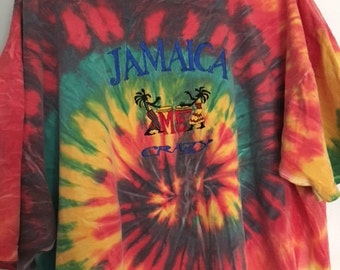 Vintage Jamaica Tie Dye Shirt
