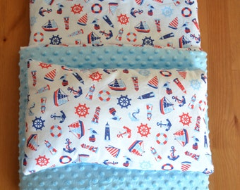 play blanket + pad Minky baby, perfect gift for baby shower