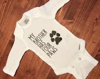 My Brother Has Paws Baby Onesie!