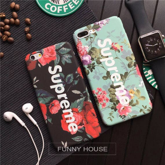 floral print supreme iphone case. Black Bedroom Furniture Sets. Home Design Ideas