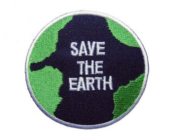 Save The Earth Patches Applique Embroidered Iron on Patch