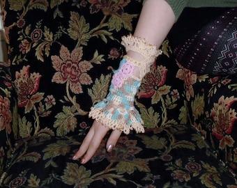 Irish Crochet Lace Wrist Cuff