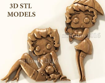 2 pcs stl models for CNC Router