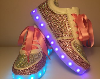 Crystal Light Up Celeb Trainers - Adults/ Kids