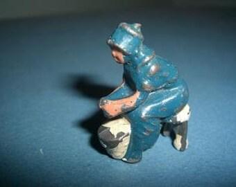 Britains Toy diecast lead  figure Milk maid on stool