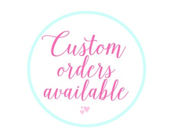 Custom Invitations Available For Purchase