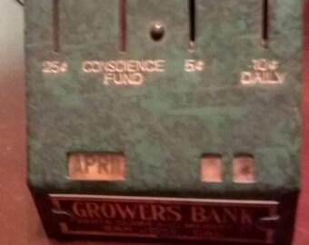 Growers Bank (San Jose) Calendar Coin Bank
