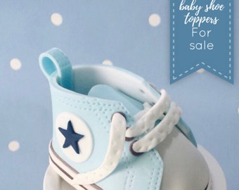 Converse baby trainer shoe gumpaste cake topper