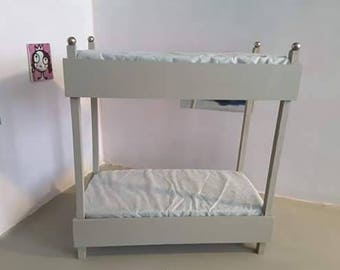 1/6 scale barbie size bunk bed for dolls up to 12 inch..