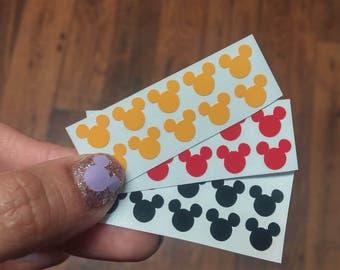 Mickey/ Minnie nail stickers