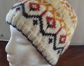Colorwork hat lined