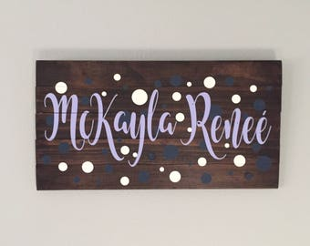 Personalized Name Premium Wood Pallet Sign 12x24