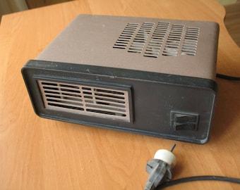 Electric heater Vintage heater Fan heater Soviet heating cooling Electric heater Floor heater Desk heater Industrial decor Box heater
