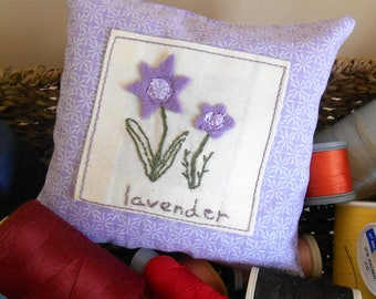 Lavender Pillow, Lavender Satchet, Provence Lavender, Hand Embroidered, Gift, Scented