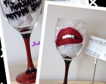 Rocky Horror Picture Show Glitter Wine Glass