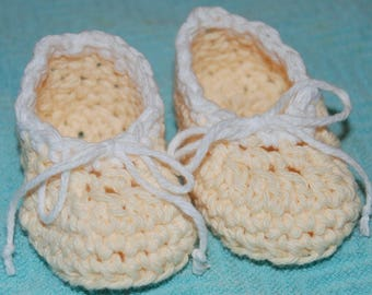 Nanas Best Booties Two-Toned Ballet Slippers Crochet Pattern