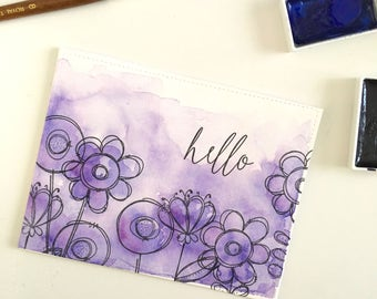 Handmade Watercolor Greeting Card
