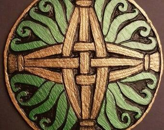 St. Brigid's Irish Celtic Cross - Circular