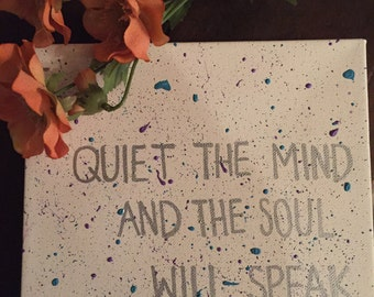 Quiet the Mind Canvas