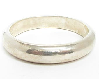 Unique 925 Sterling Silver Vintage Italian Made Dome Bangle Bracelet - B042 (!!!OFFERS ACCEPTED!!!)