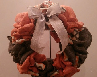Welcome Fall Burlap Wreath