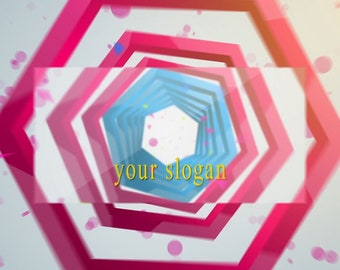 End screen video intro or outro, Geometric abstraction of the logo