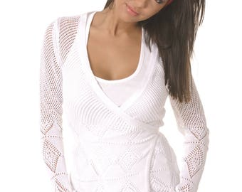 White ladies vest Radiana