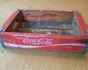Vintage 1977 Red Coca-Cola Crate, Soda, Pop