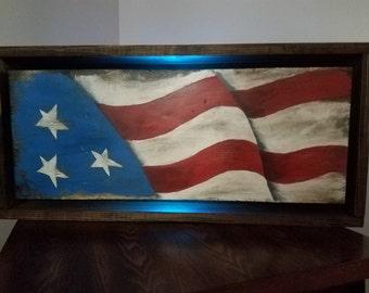 Wooden Flag , Reclaimed Wood, Wooden Wall Decor, Wall Art, Rustic Wall Decor, American Flag