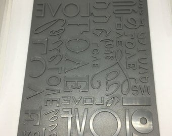 Letterpress/Embossing Plate / Lots of Love -/ card making / scrapbooking / crafting / arts and crafts