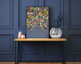 Flowers Oil Painting Painting Canvas Painting Flowers Painting Gift Painting Living Room Wall Art Color