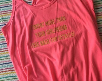 I Squat More Than Your Girlfriend (See Back For Details) tank size L