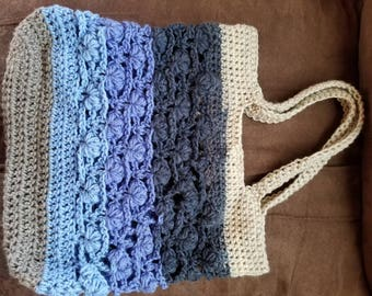 Crochet Puff Design Tote