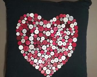 Modern heart cushion