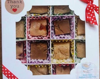 Handmade Crumbly Fudge - Traditional Recipe - Made to Order - Thank You Gift Box