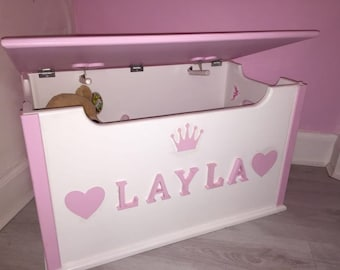 Personalised Wooden Toy Box Scotland